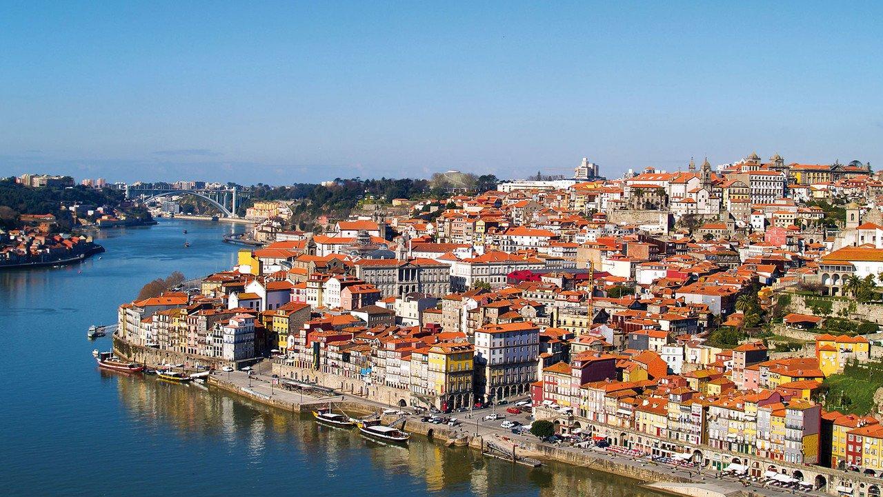 Panorama von Porto am Douro
