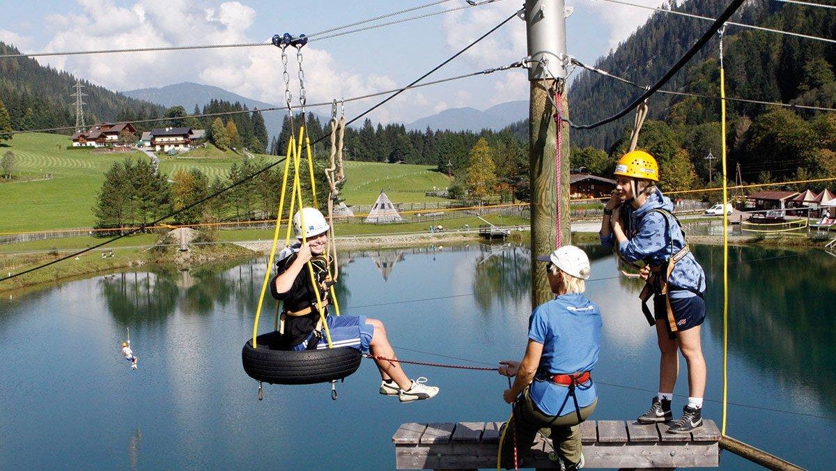 Outdoor-Action in den Alpen