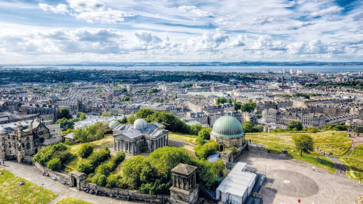 Edinburgh Stadtübersicht