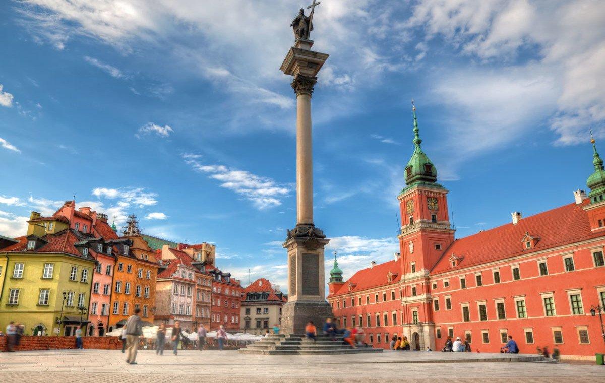 Warschau Panorama des Marktplatzes