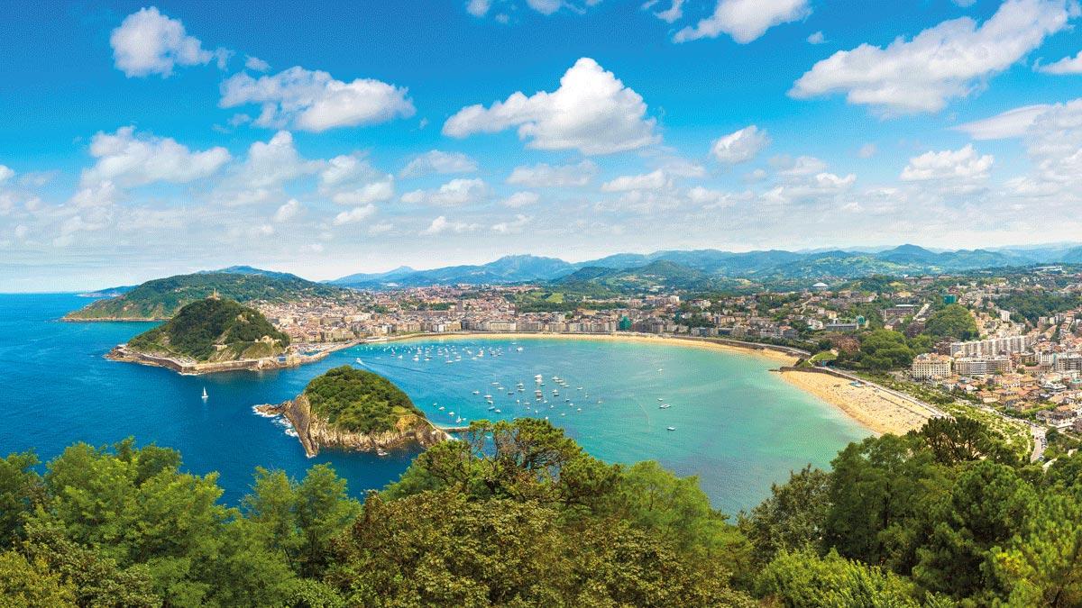 Bilbao San Sebastian Strand Meer