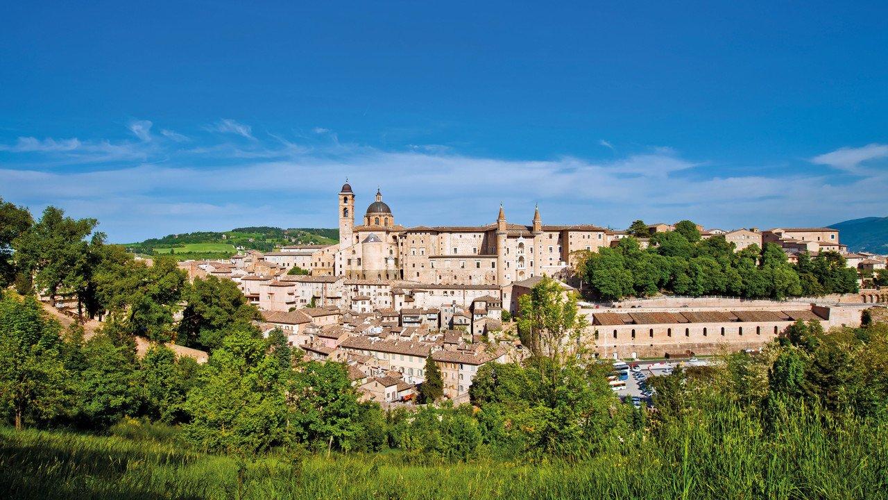 Blick auf italienische Burg