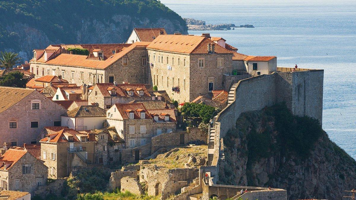Die Altstadt von Dubrovnik in Dalmatien