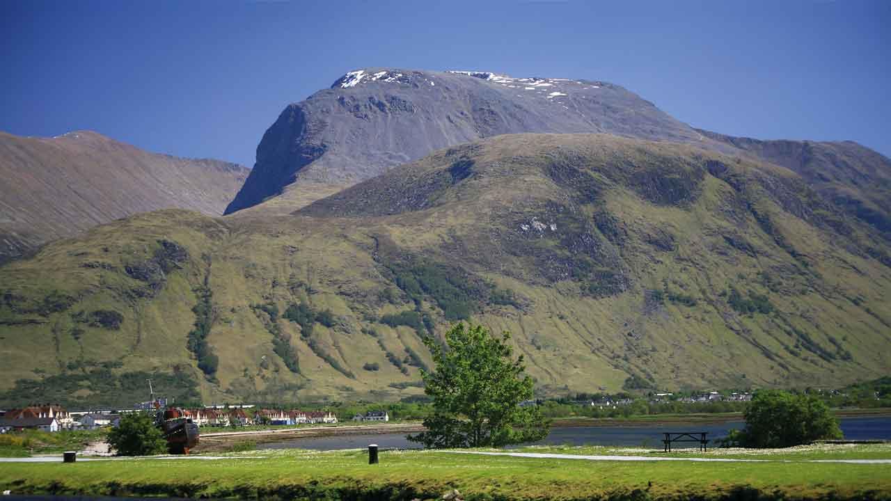 Blick auf den Ben Nevis in Schottland