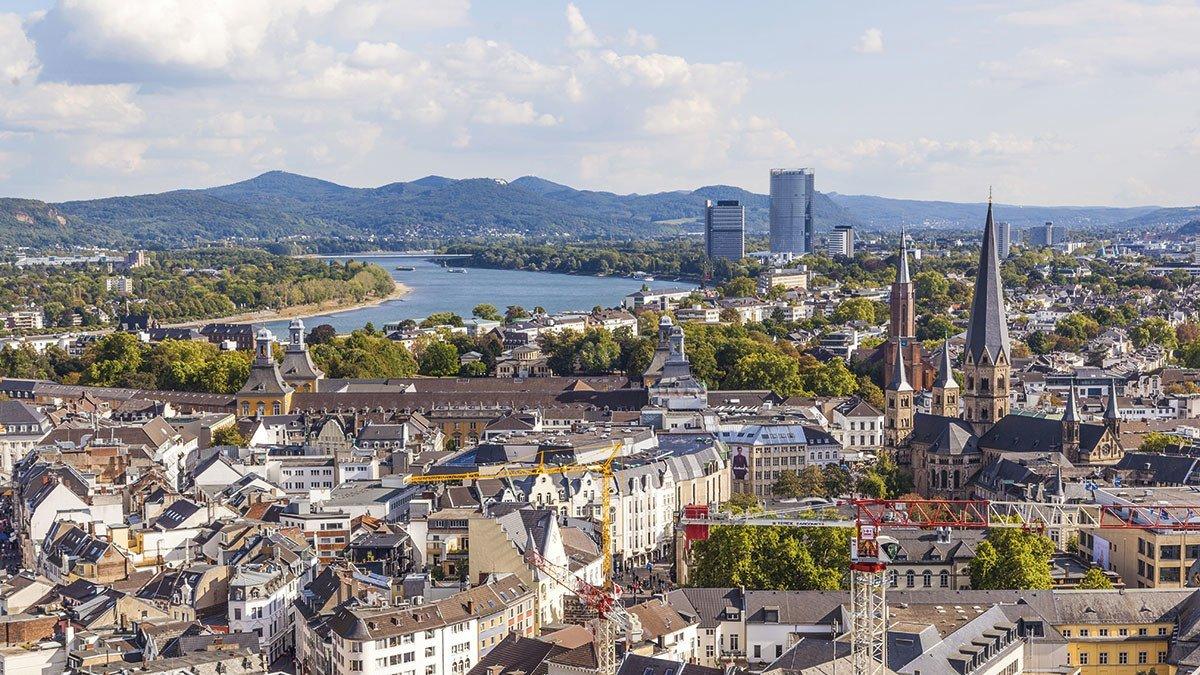 Überblick über die ehemalige Hauptstadt Bonn