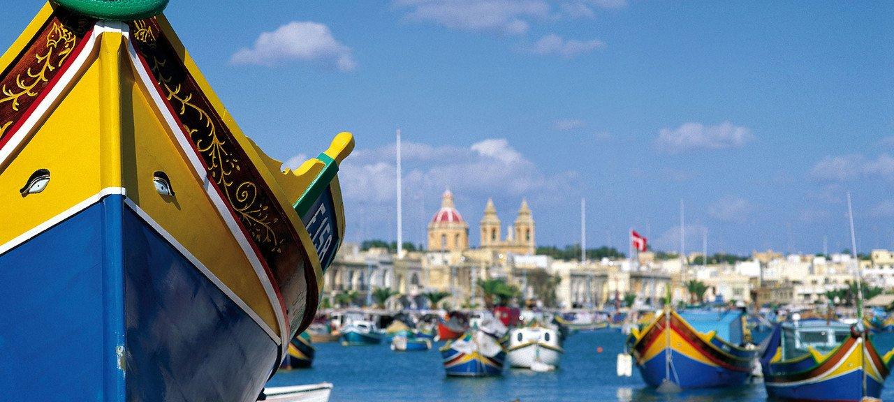 Malta Boote im Hafen
