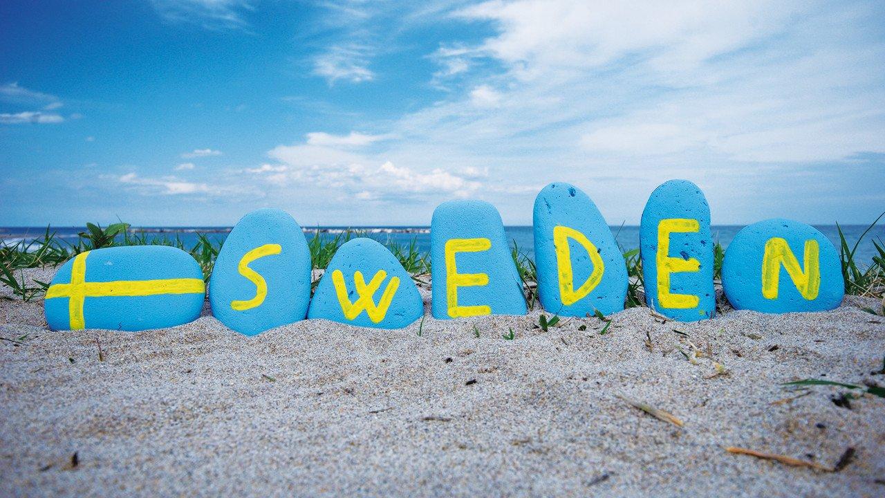 Schweden Zeichen Strand