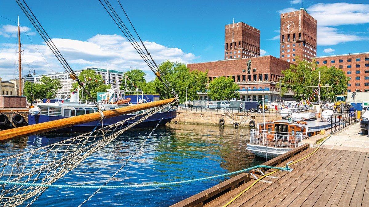 Hafen und Boote in Oslo