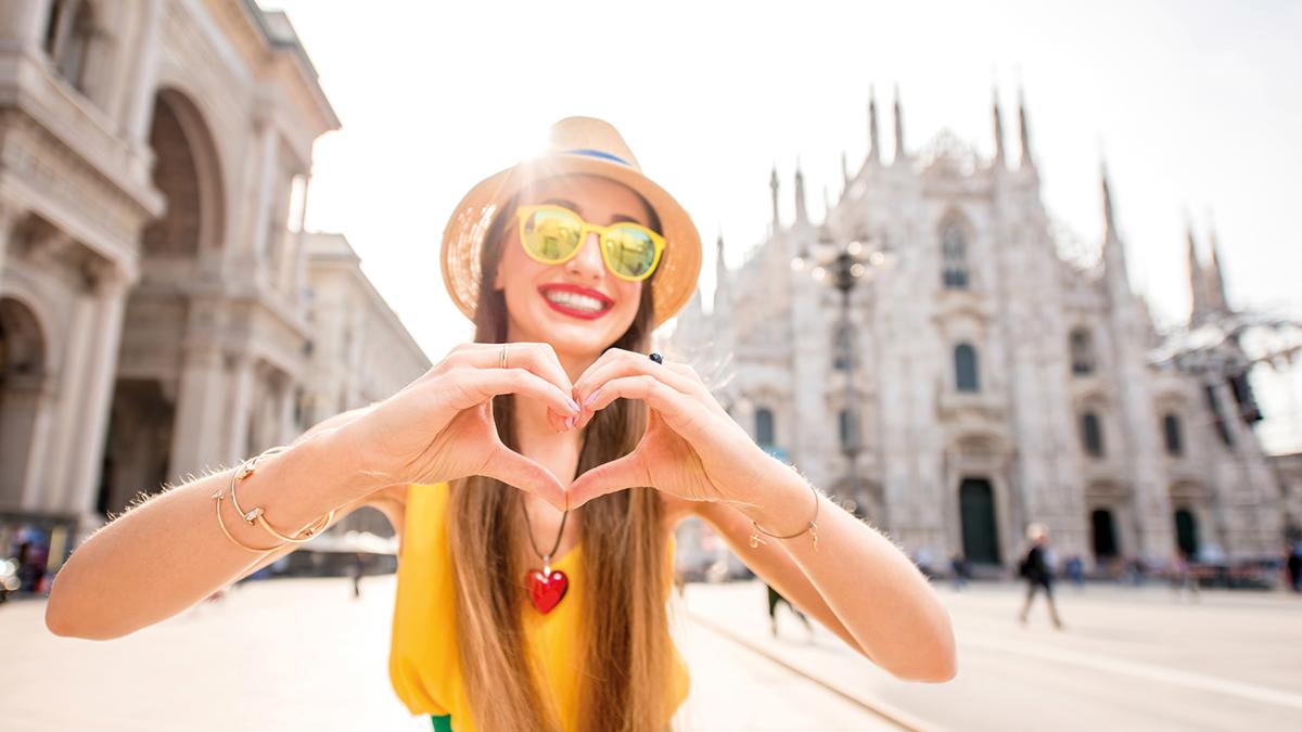 Mailand Dom Mädchen mit Herz