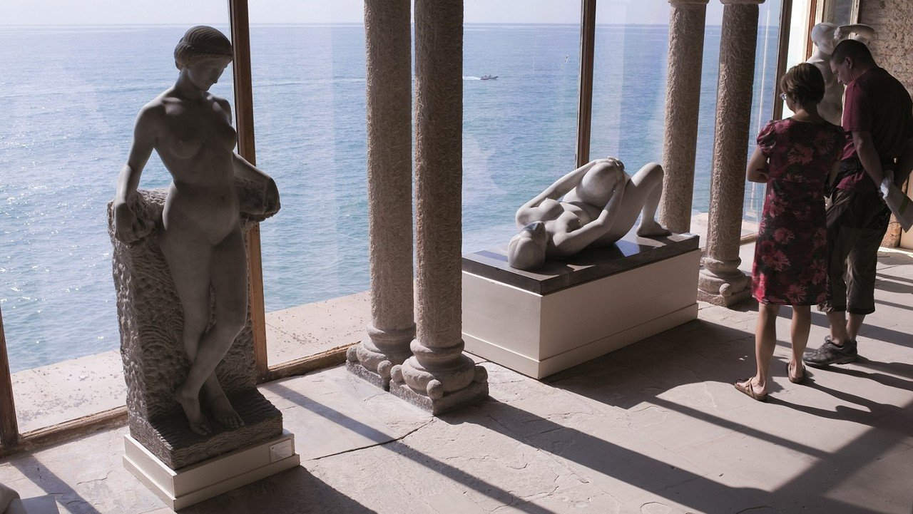 Innenansicht eines Museums in Barcelona