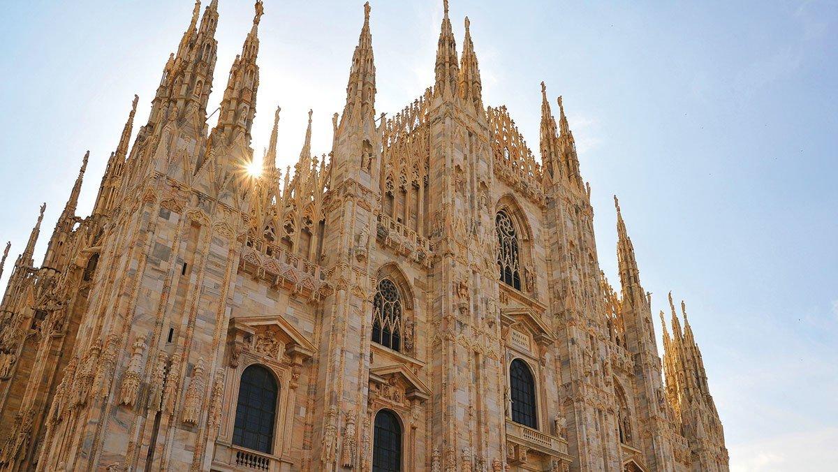 Blick auf den Dom in  Mailand