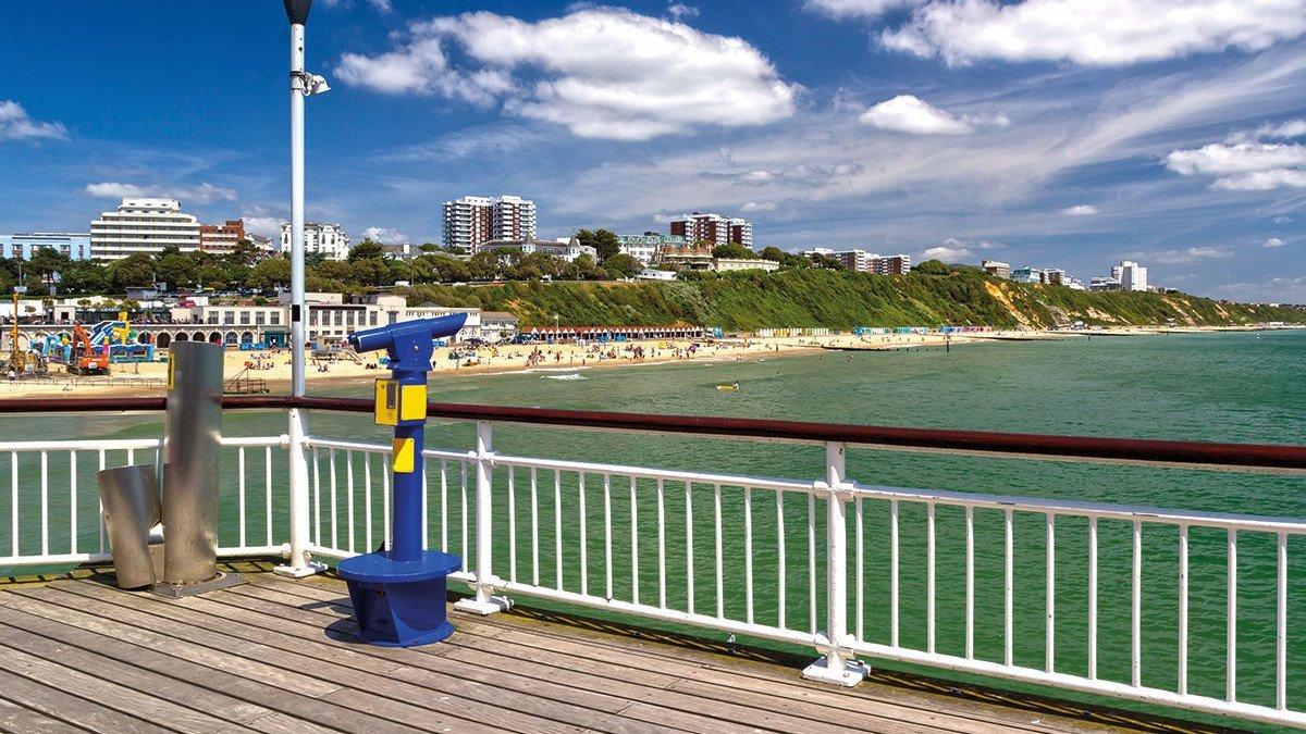 Promenade am Strand von Bournemouth