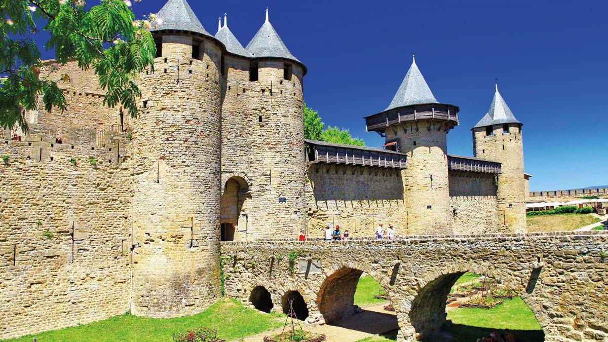Die mittelalterliche Stadtanlage von Carcassone