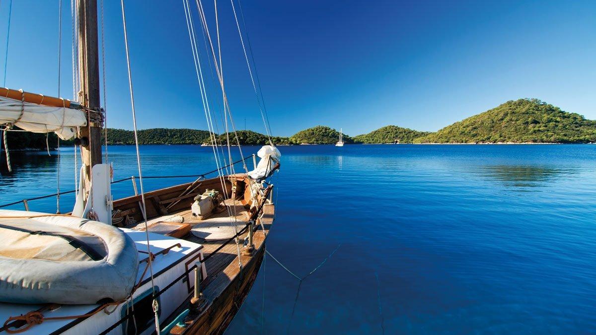 Ausblick von einem Segelboot