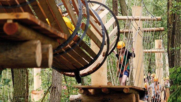 Klettern im Summercamp Heino