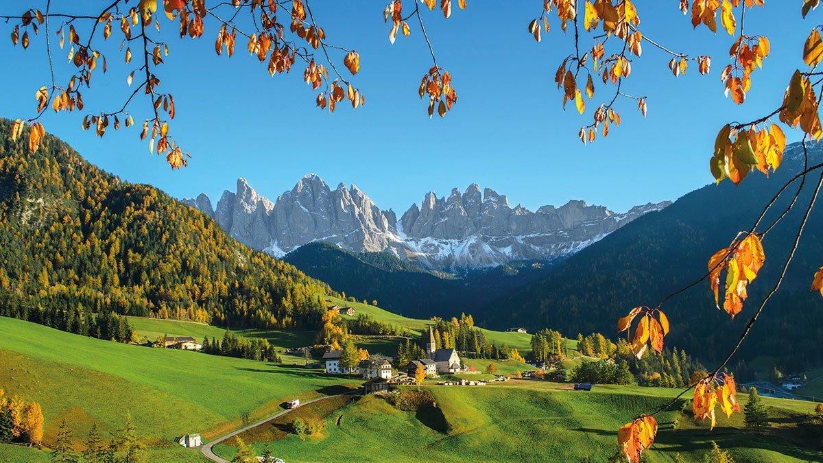 Südtirol mit Blick auf die Dolomiten