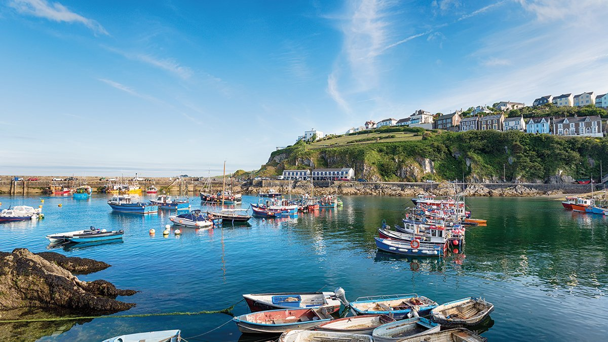 Cornwall Megavissey Hafen mit Booten