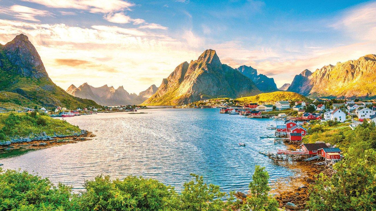 Schöner Fjord in Norwegen