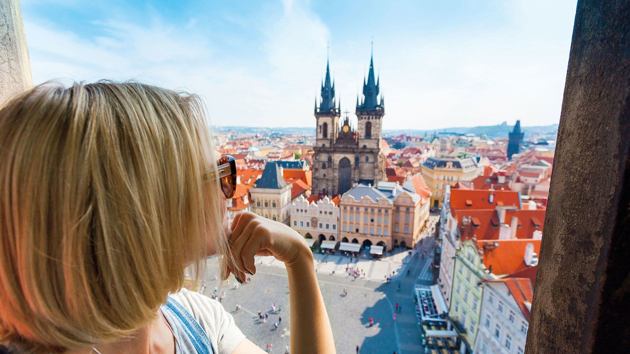 Blick auf Prag von oben