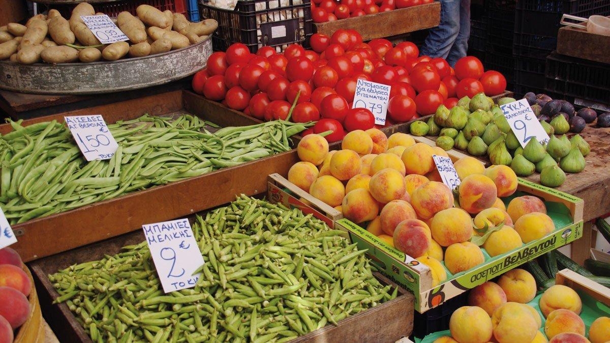 Bild vom Markt auf Thessaloniki