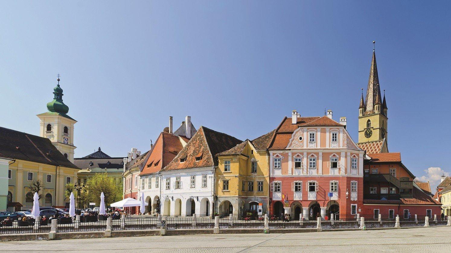 Der Marktplatz von Schäßburg