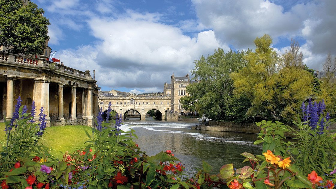 Brücke über den Fluss bei Bath