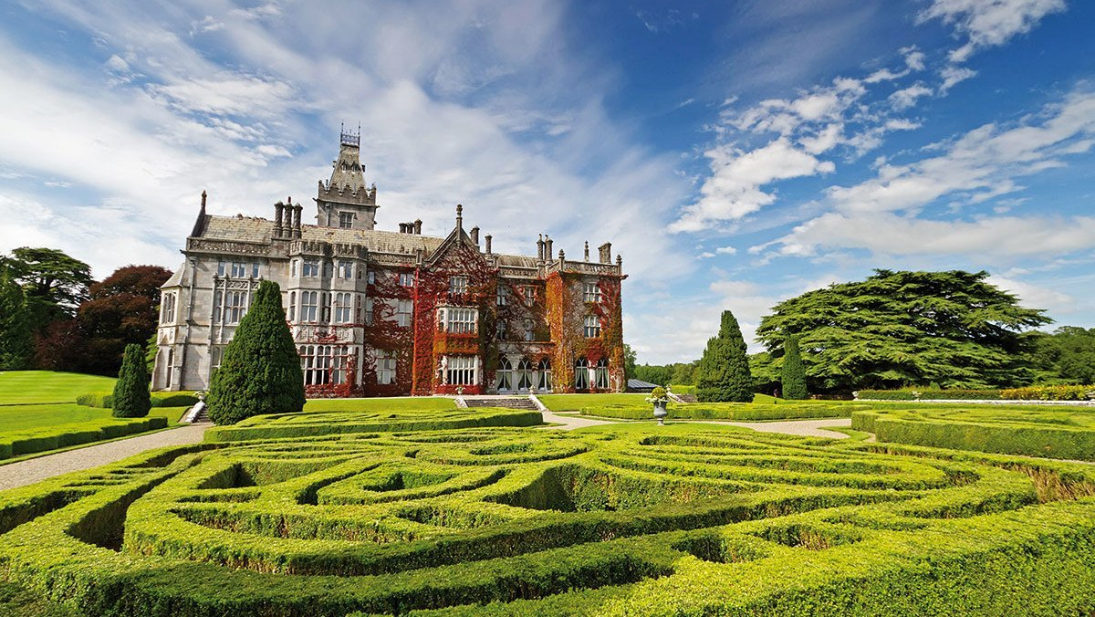 Blick auf den Adare Manor Garden