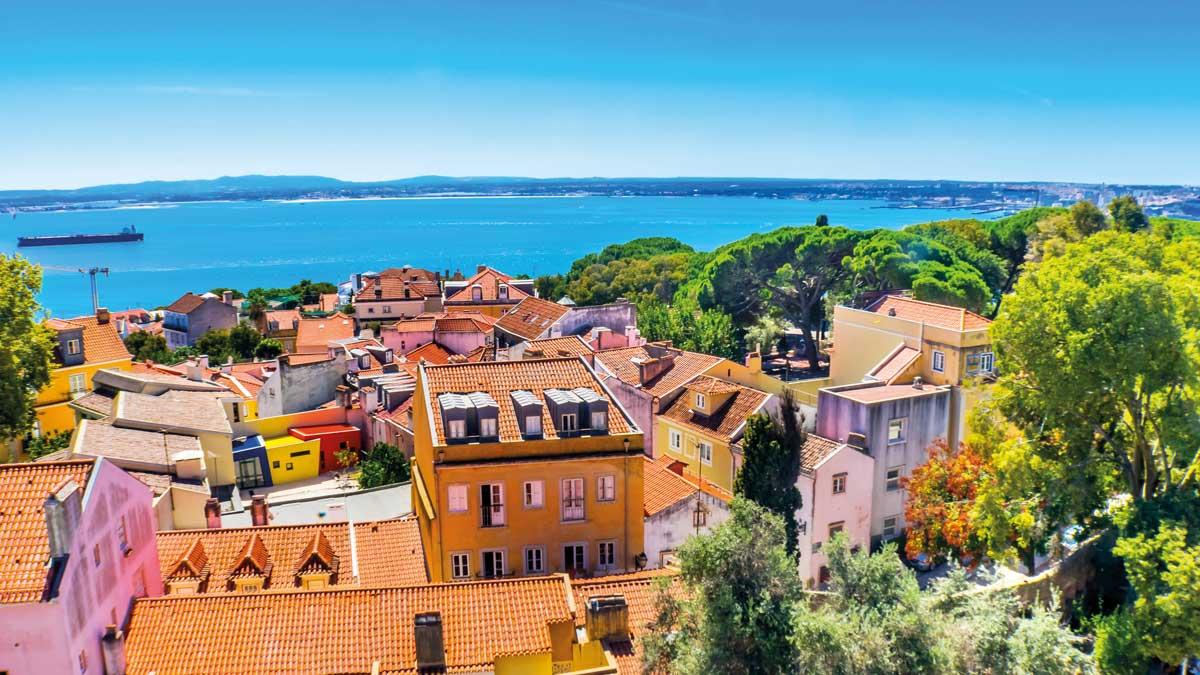 Blick auf die Küste Portugals