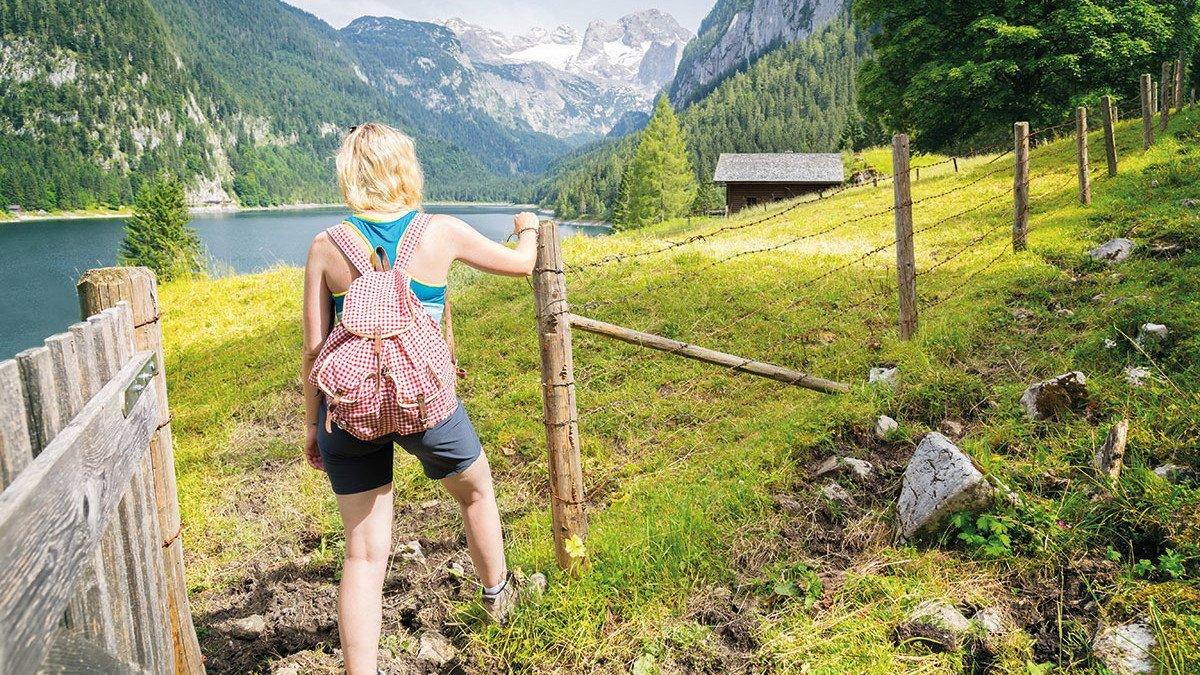 Schülern wndert im Salzburger Land