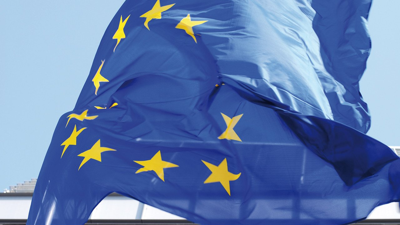 Europafahne in Brüssel