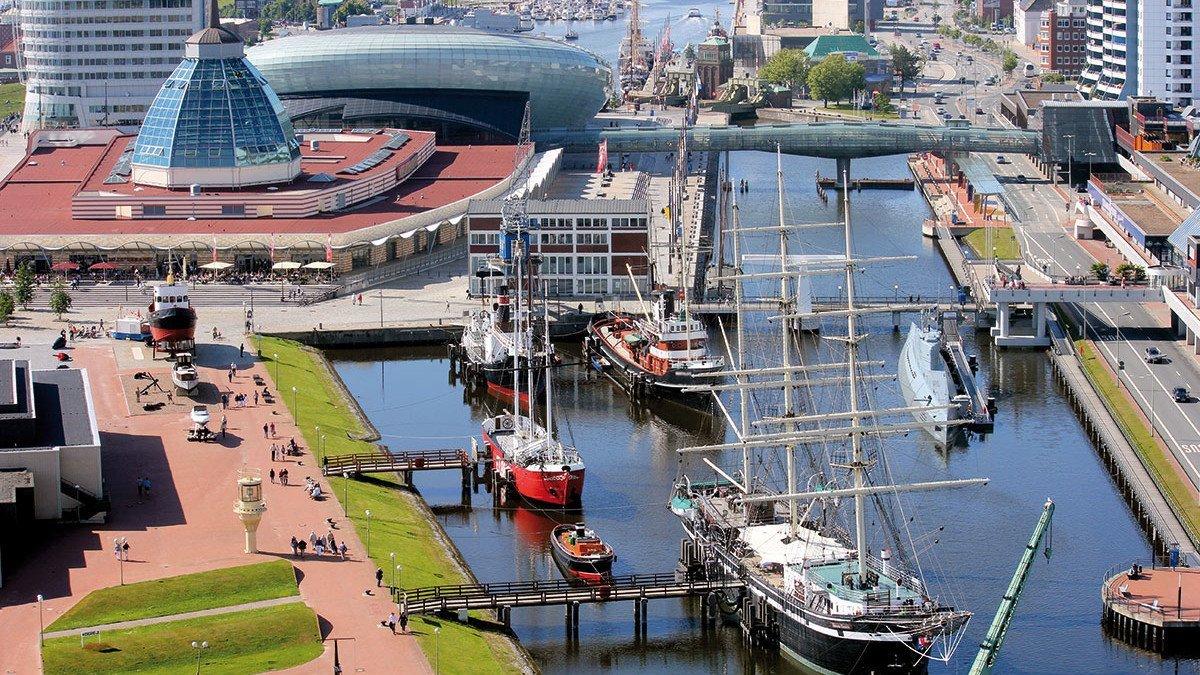 Sicht über Bremerhaven