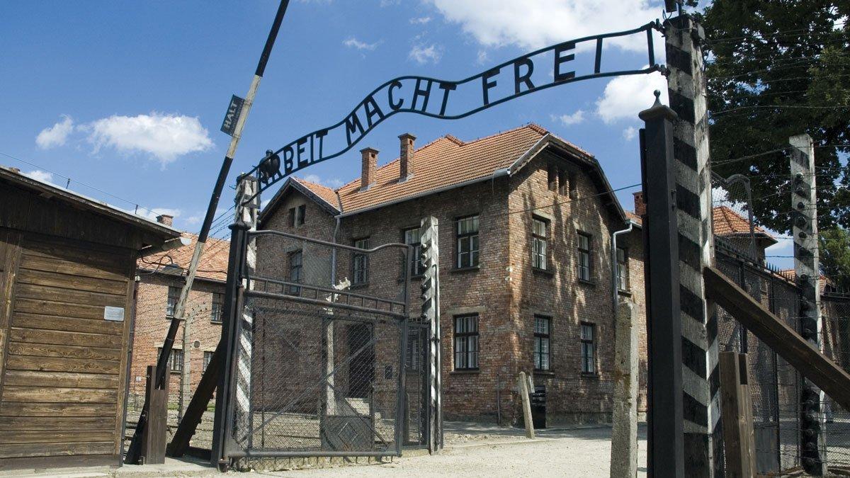 Tor zum Konzentrationslager in der Nähe Krakaus