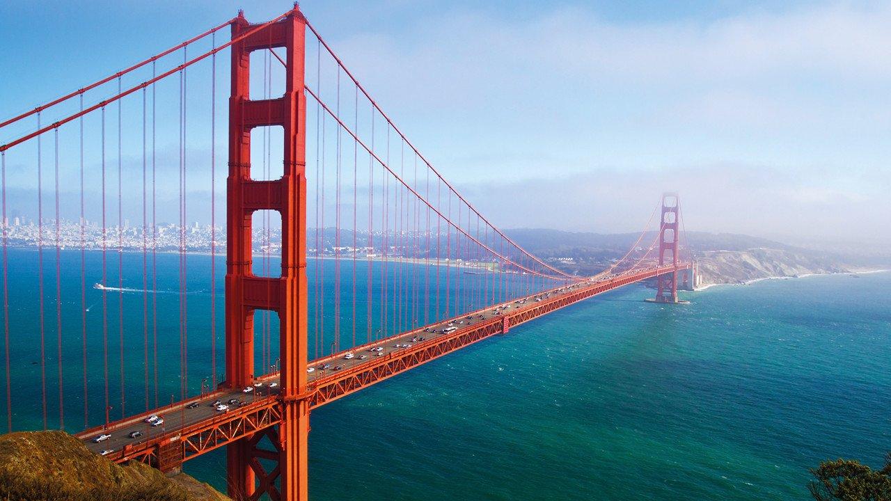 Blick auf die Golden Gate Bridge in San Francisco