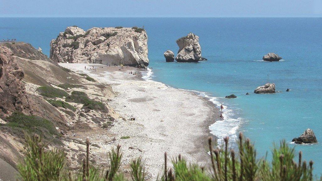 Das Meer bei Paphos - hier entstieg Aphrodite dem Meer!