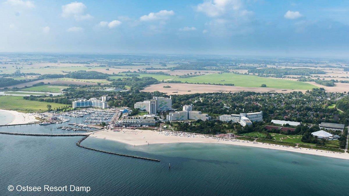 Blick auf das Ostsee Resort Damp