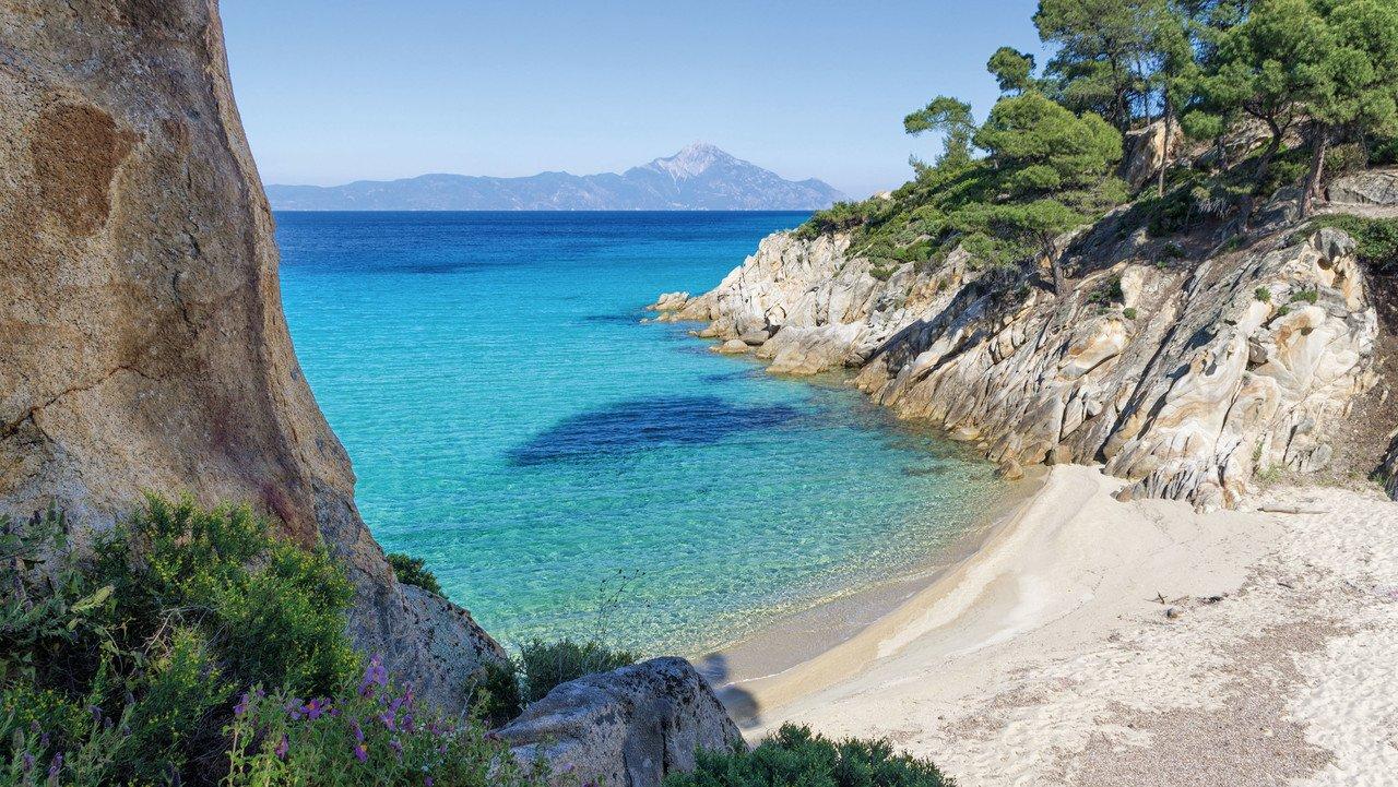 Schöner Strand in Griechenland