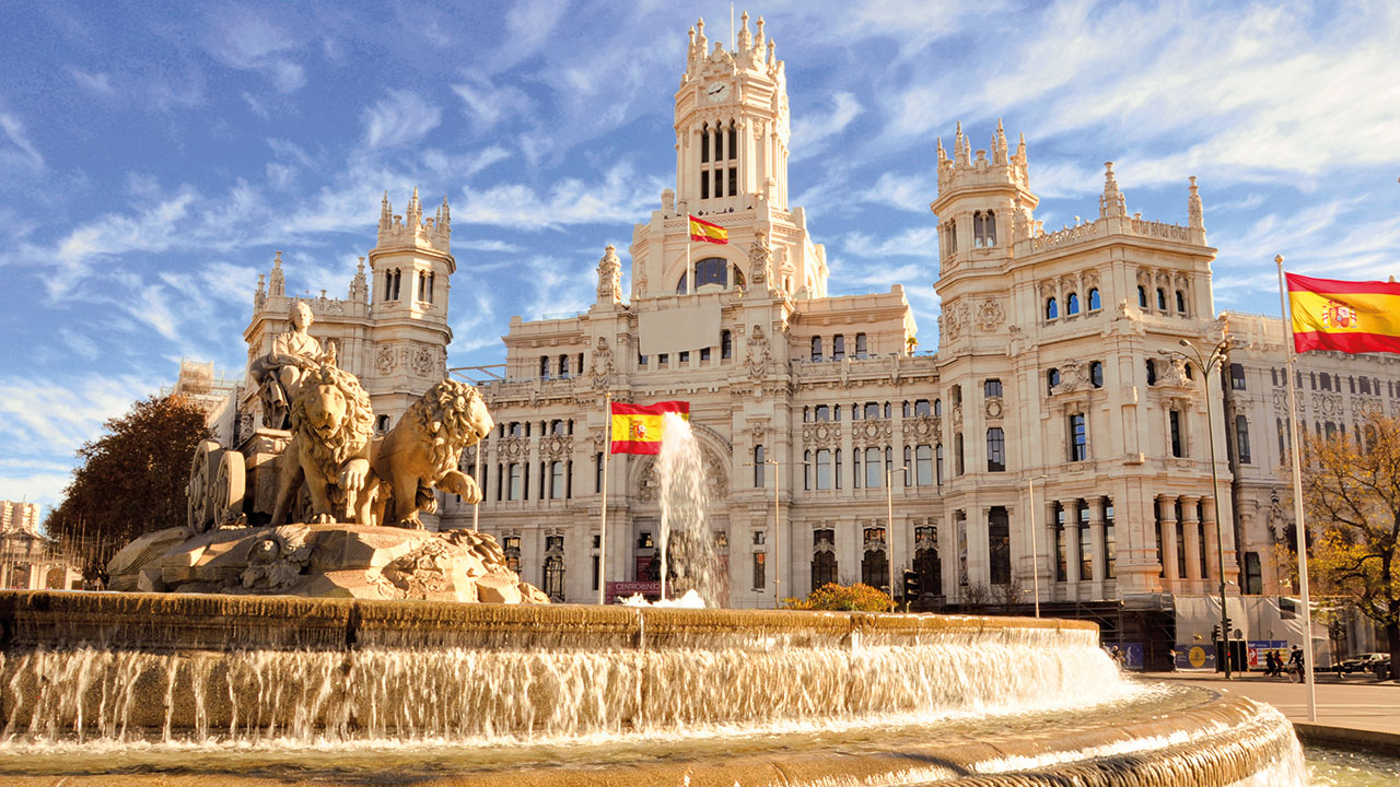 Cibeles Brunnen in Madrid