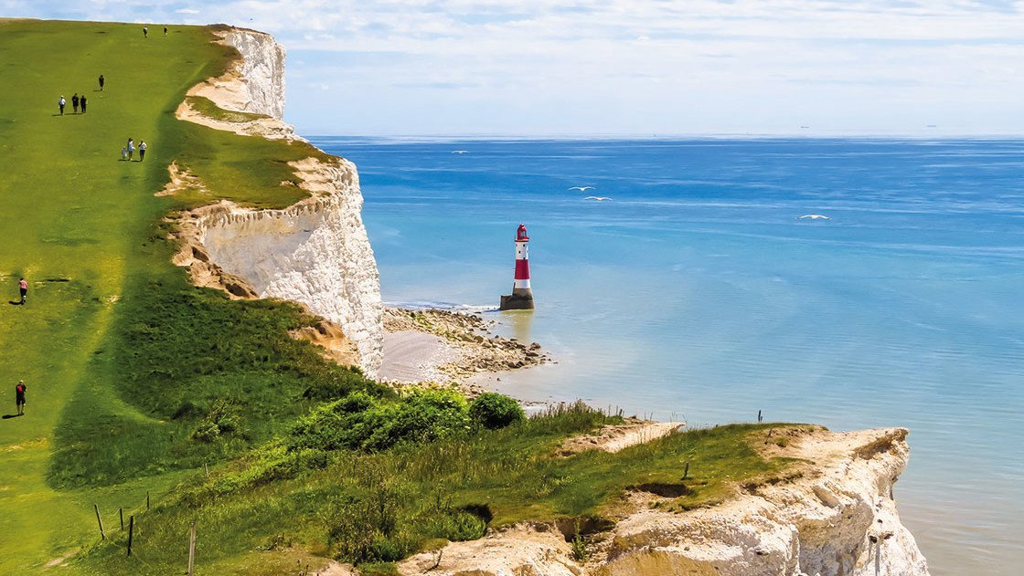 Klippen und Meer von Eastbourne