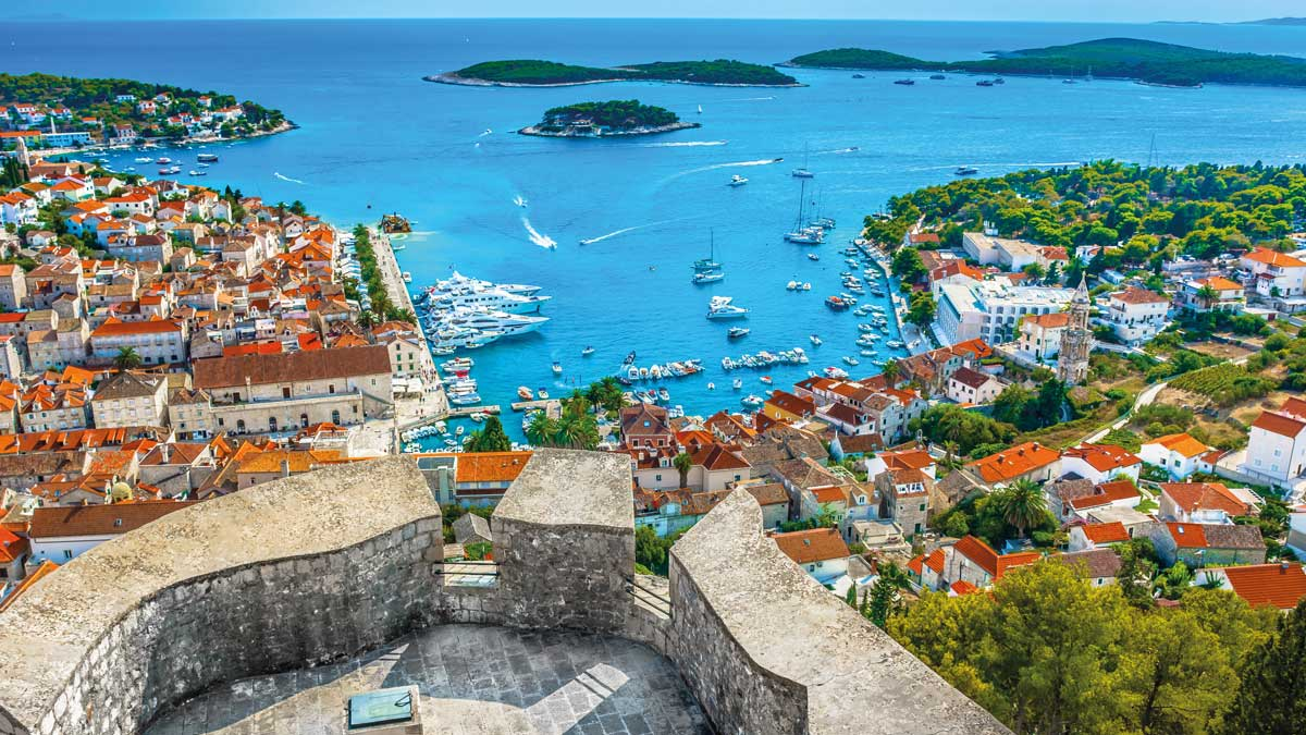 Panoramablick auf Dalmatien