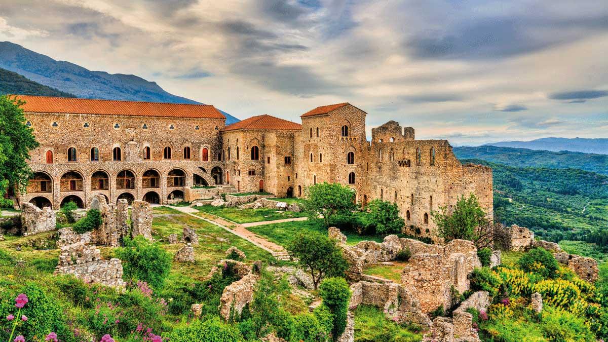 Blick auf die Stadt Mystras