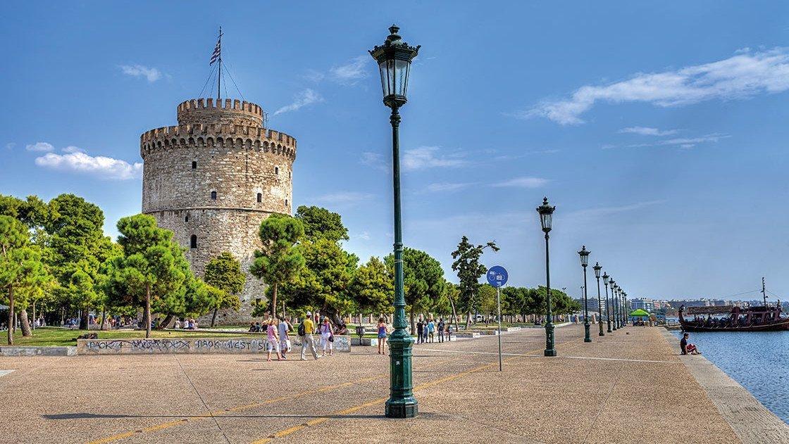 Antiker Turm in Griechenland