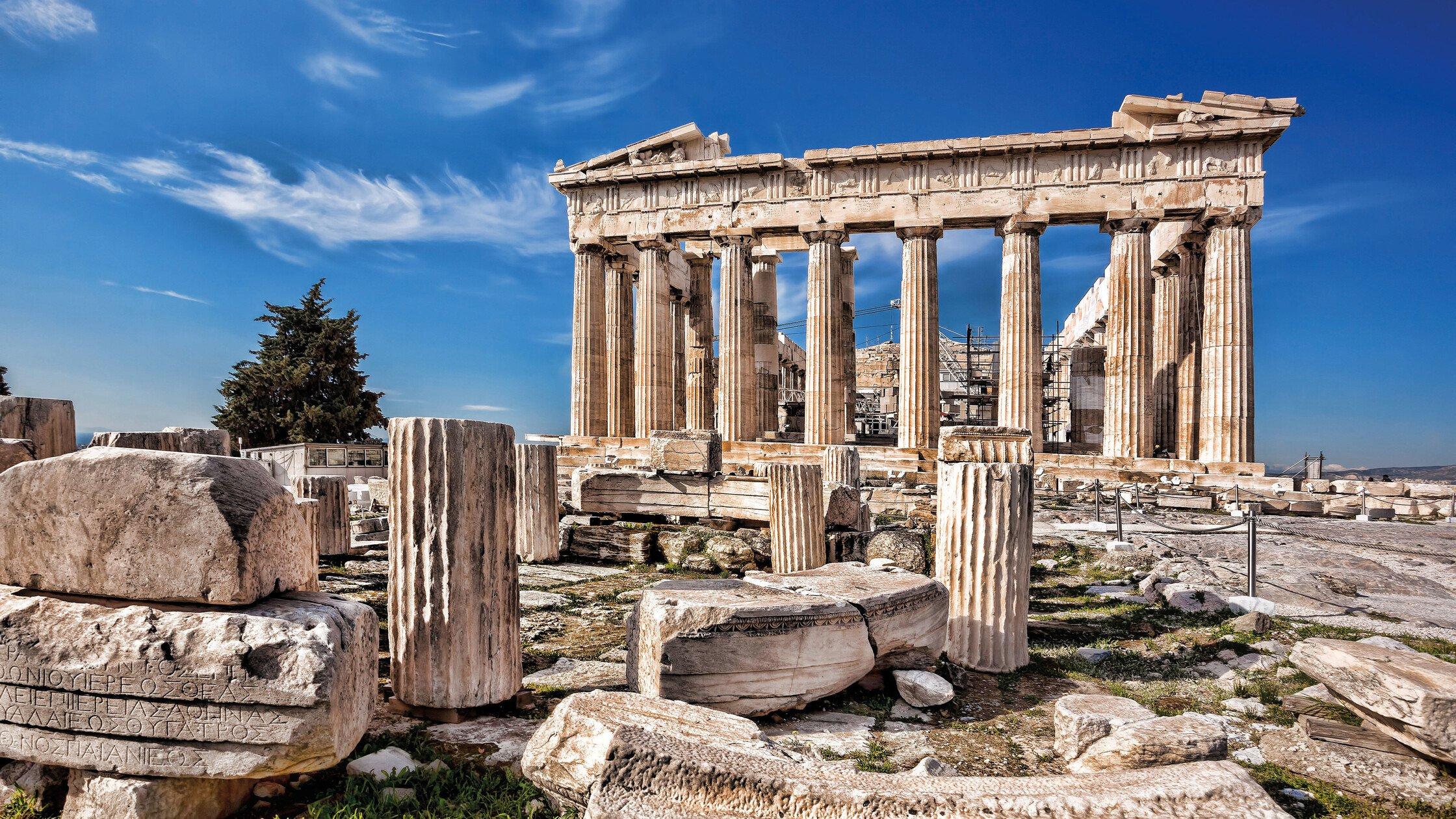 Eine griechische Tempelanlage
