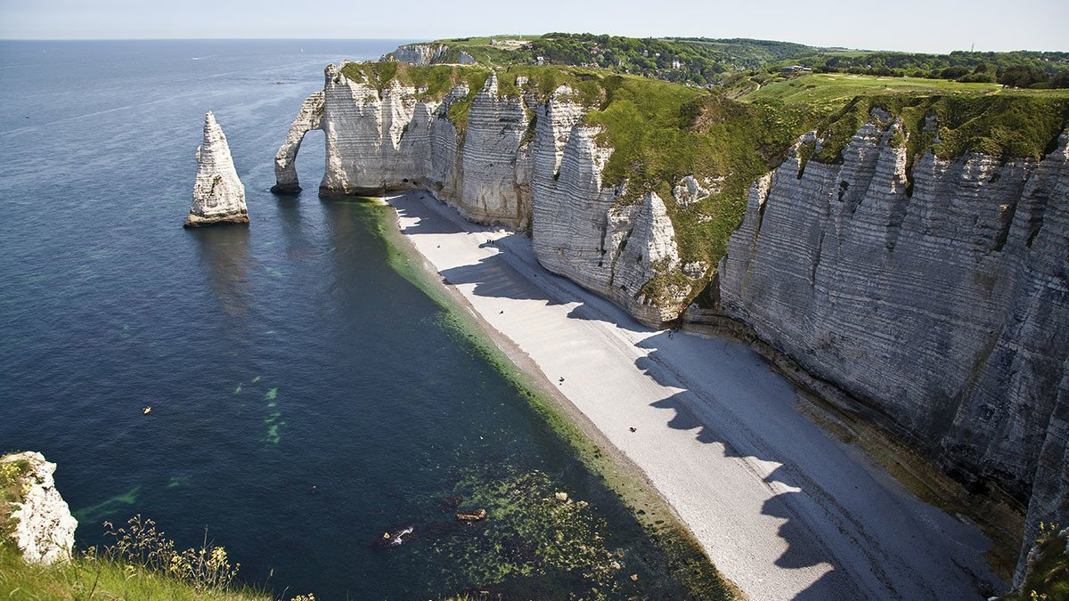 Klippenlandschaft in Normandie-Etretat
