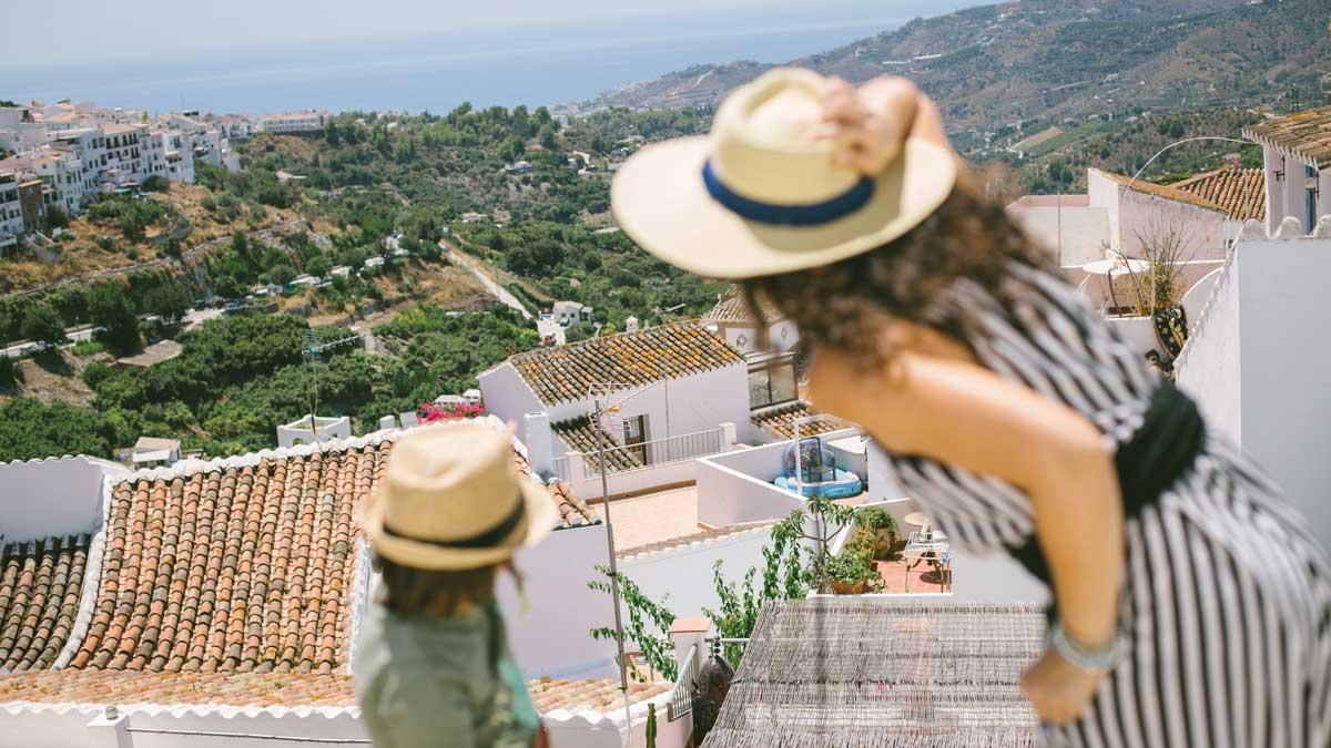 Ausblick auf das Meer von Malaga