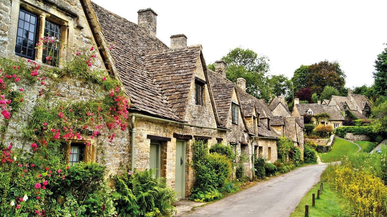 Cotswolds Häuserreihe England