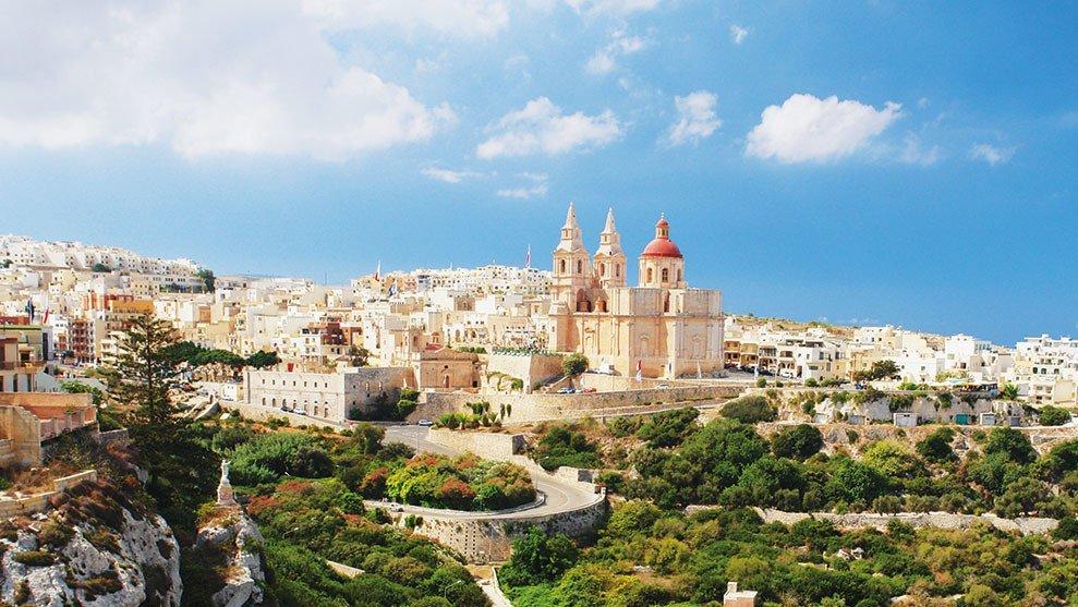 Maltas Stadtmaueransicht