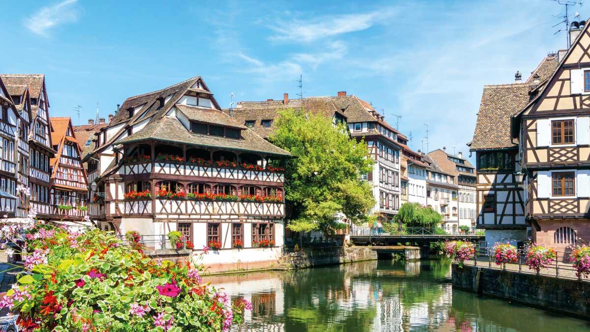 Elsass-Straßburg-Häuser