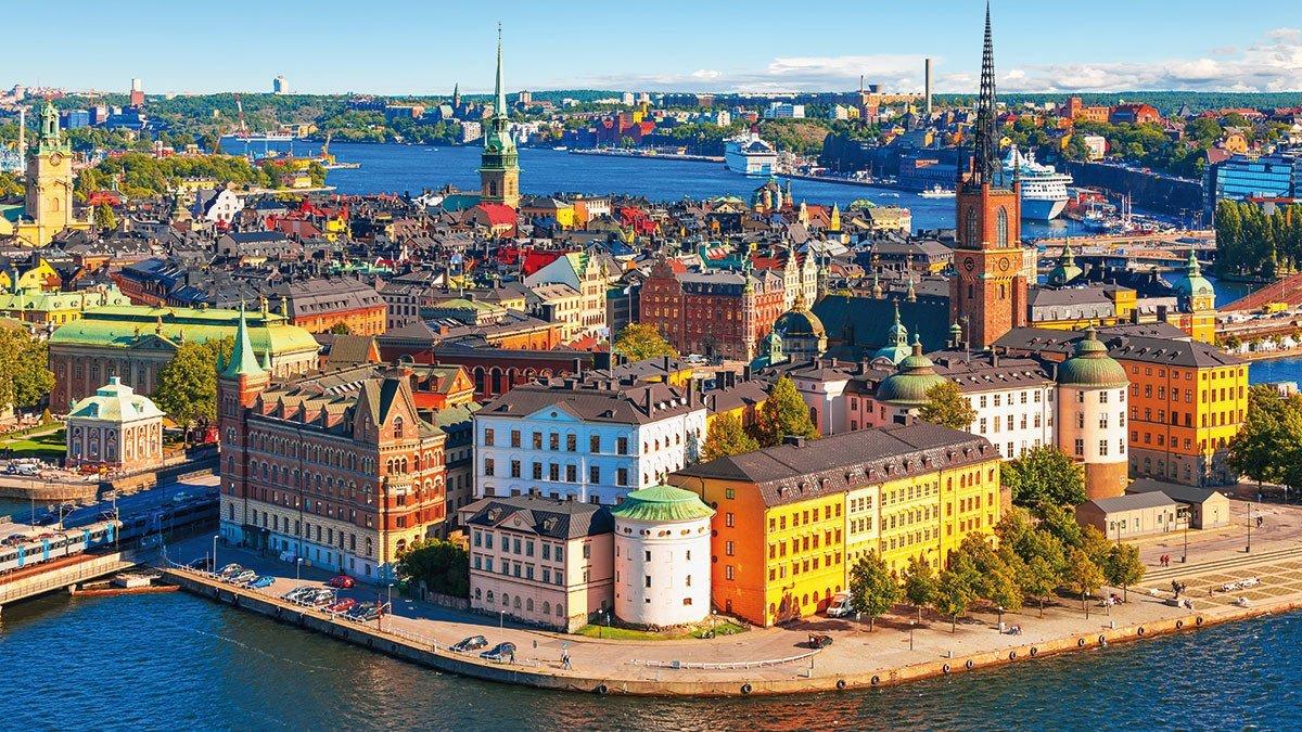 Panorama aus der Luft über Stockholm
