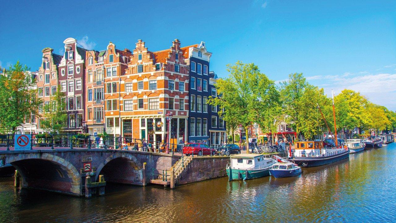 Amsterdam Stadtansicht mit Gracht