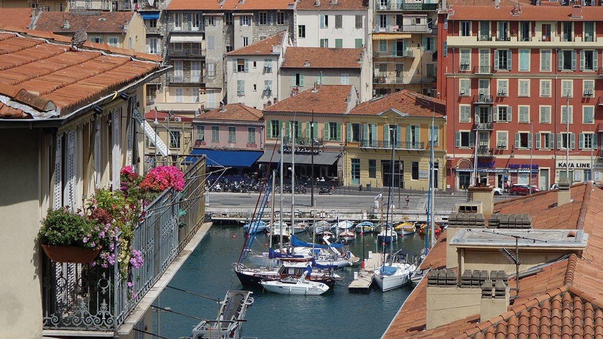 Hafenteil in Nizza